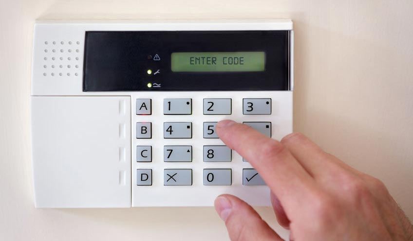 diy intruder alarm systems - keypad